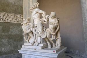 Vatikanische Museen Statuenhof Skulptur des Laookon